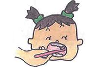 奥歯の側面をみがく